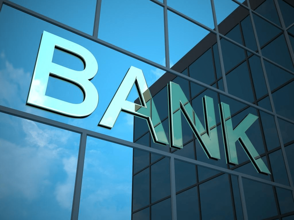 a picture of a bank sign