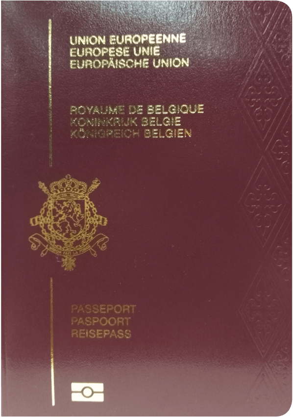 The image of the passport of Belgium