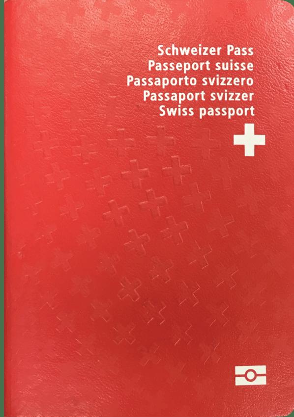 The image of the passport of Switzerland