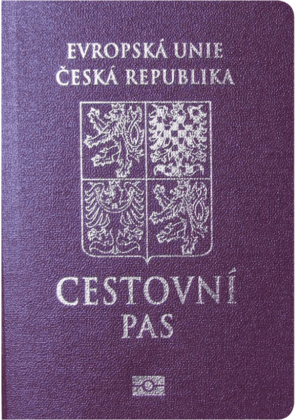 The image of the passport of Czech Republic