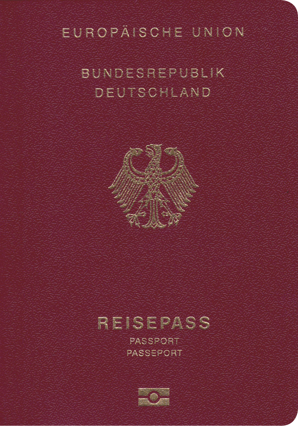 The image of the passport of Germany