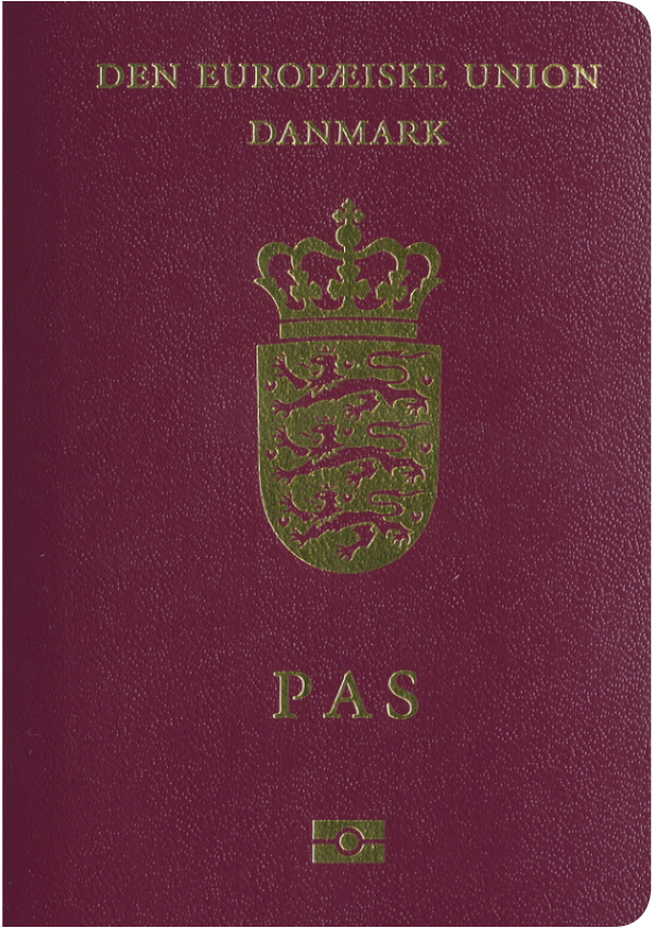 The image of the passport of Denmark