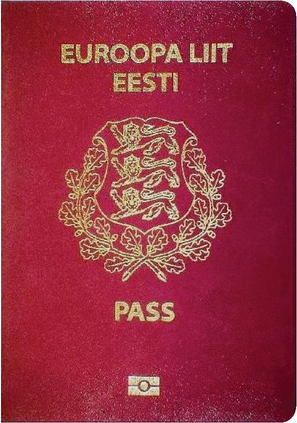 The image of the passport of Estonia