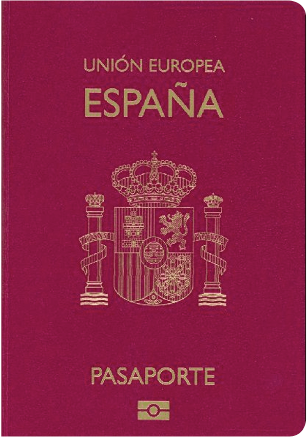 The image of the passport of Spain