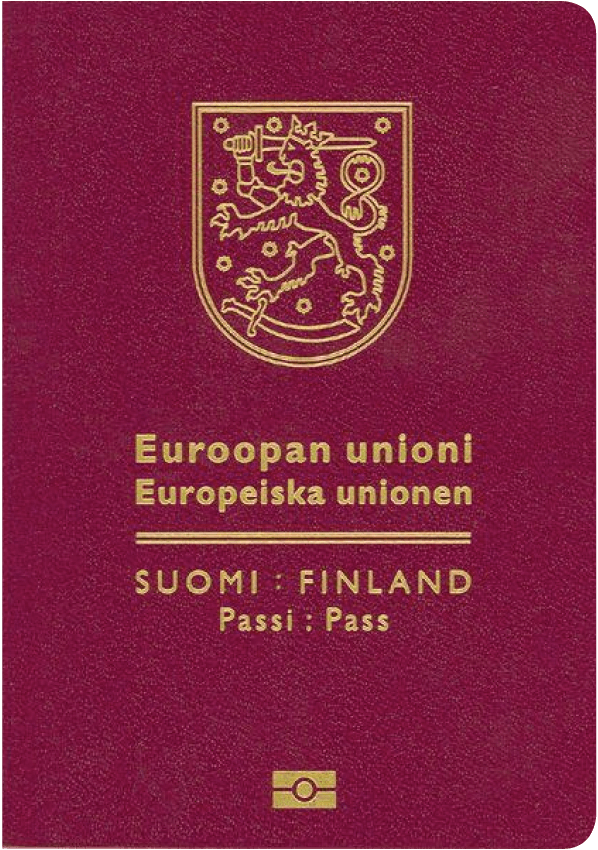 The image of the passport of Finland