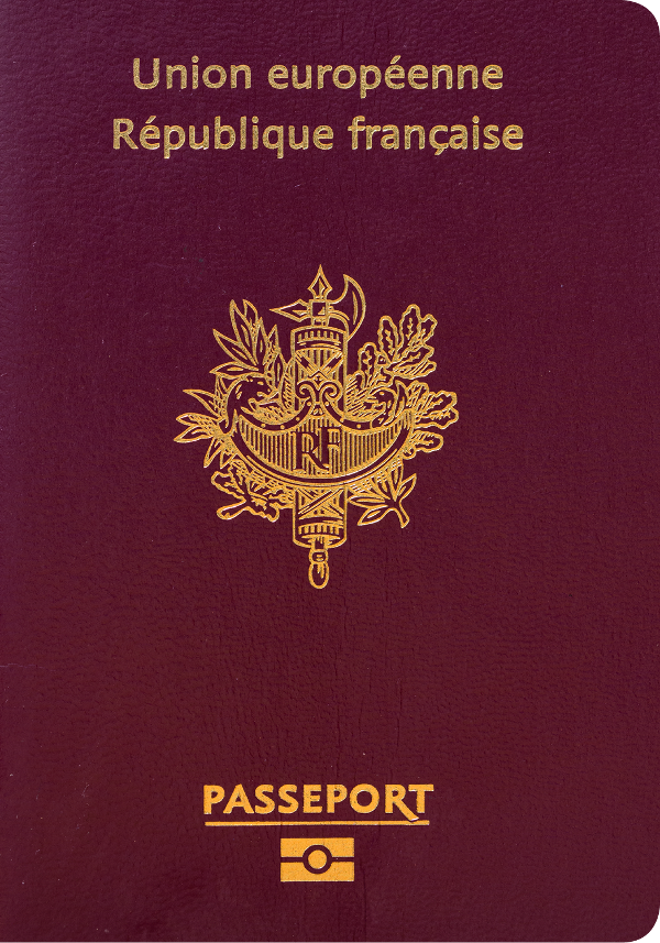 The image of the passport of France
