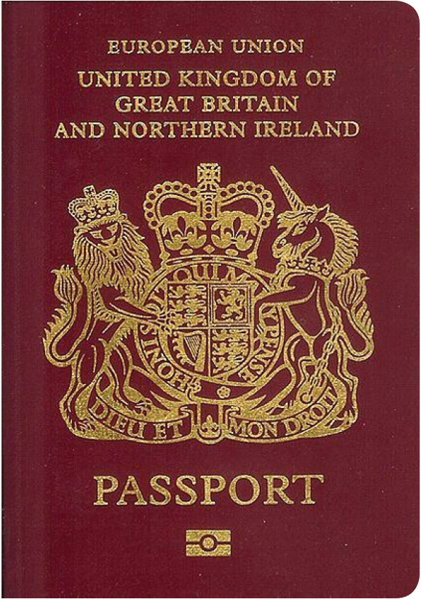The image of the passport of United Kingdom