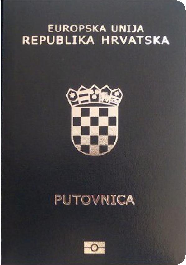 The image of the passport of Croatia