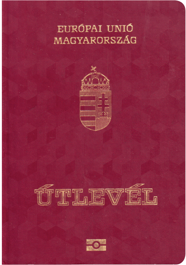 The image of the passport of Hungary