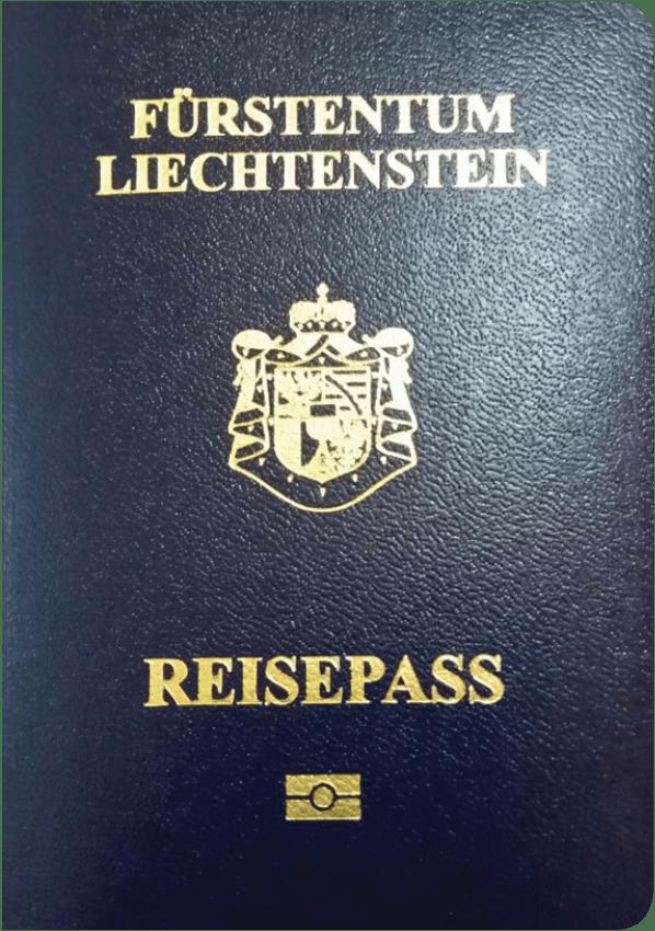 The image of the passport of Liechtenstein