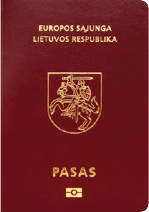 The image of the passport of Lithuania