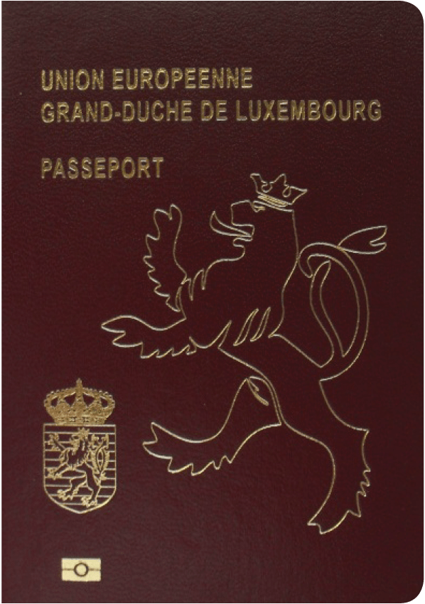 The image of the passport of Luxembourg