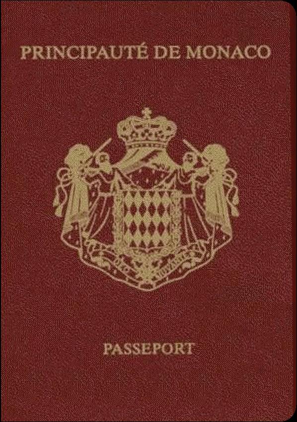 The image of the passport of Monaco