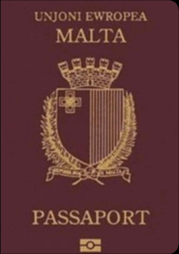 The image of the passport of Malta