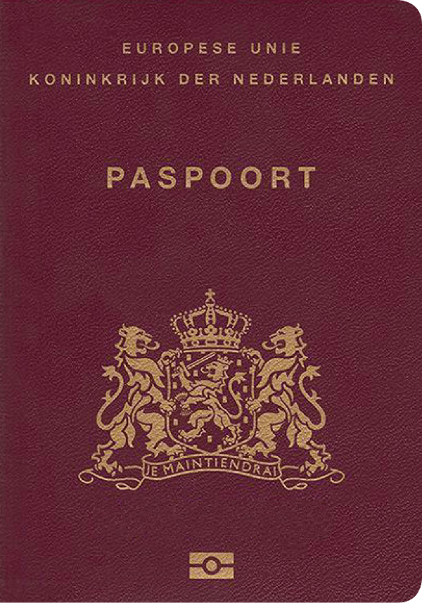 The image of the passport of Netherlands