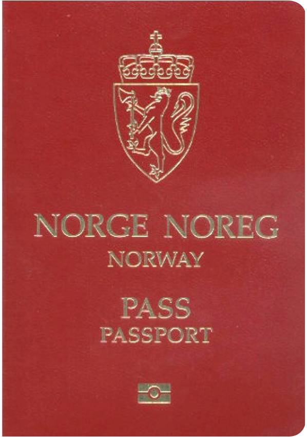 The image of the passport of Norway