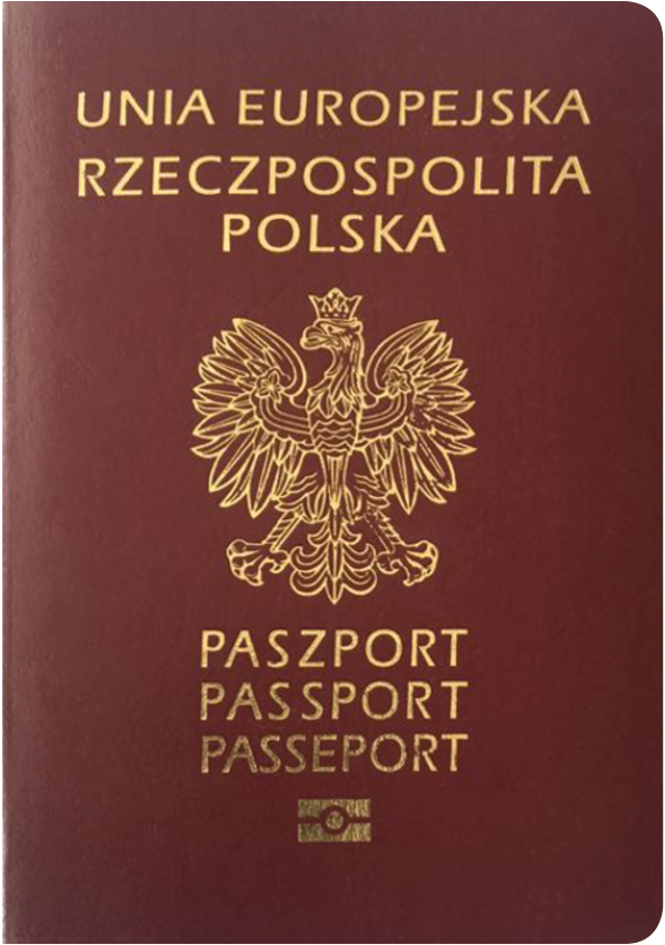 The image of the passport of Poland