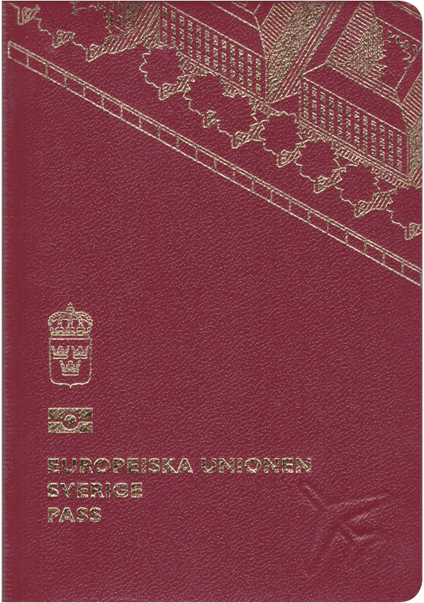 The image of the passport of Sweden