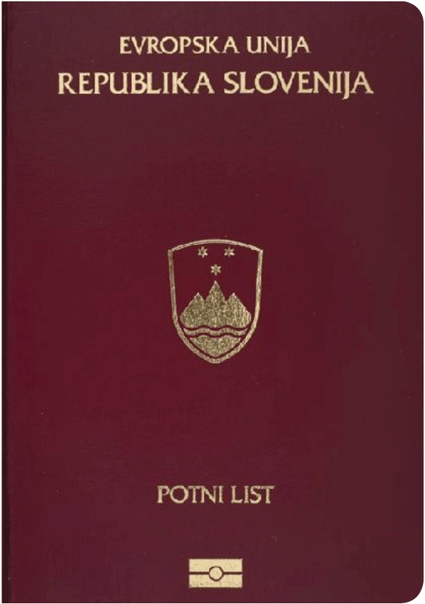 The image of the passport of Slovenia