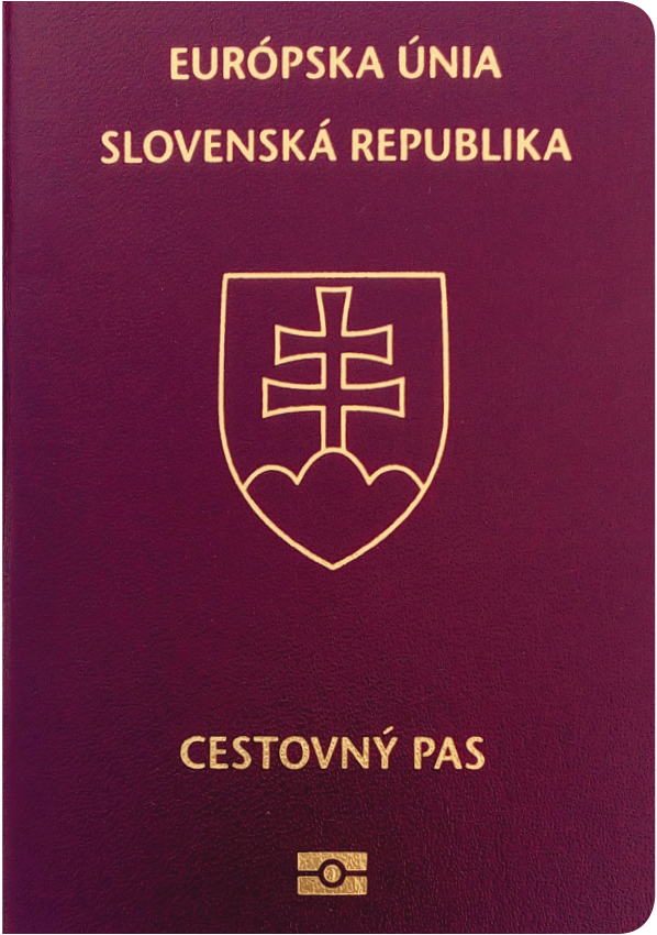 The image of the passport of Slovakia